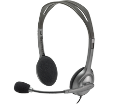 Wired Black Logitech H110 Stereo Headset