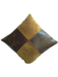 Suede Leather Cushion Cover