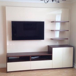 And White Modern TV Wall Unit