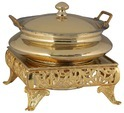 Heritage Brass Chowki Chafing Dishes, Usage/application: Home