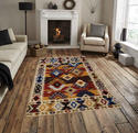 Very Exclusive And Royal Wool And Cotton Hand Woven Flat Weave Rug