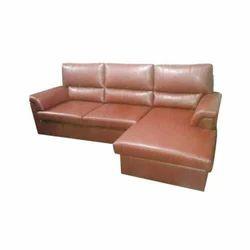 Wooden(Frame ) Rexine Modern Corner L Shaped Sofa For Home