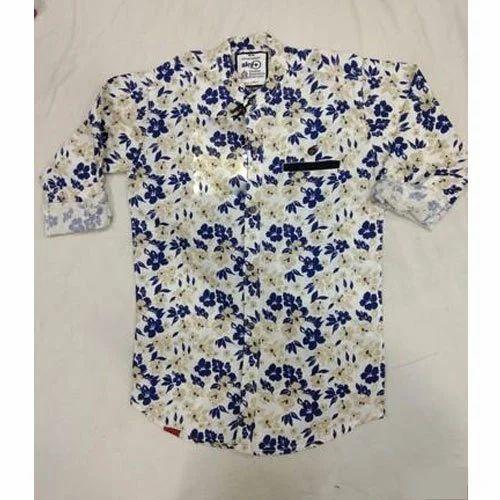 535cd54951 Kids Floral Print Cotton Shirt