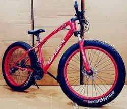 21 Gear Red Color Fat Tyre Cycle