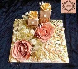 Flower Rectangle Wedding Trousseau Packing
