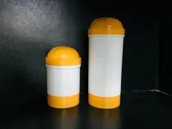 Round Powder Jar with Yellow Cap