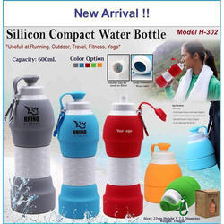 Silicon H 302 Silicone Compact Water Bottle, Capacity: 600 mL