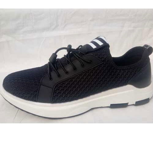 142cbac24546 Appear Black And White Mens Black Sport Shoes