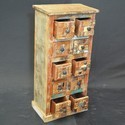 Indian Reclaimed Wood Chest Of 10 Drawers Tallboy
