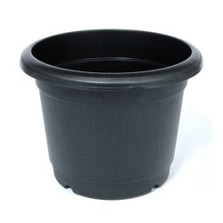 Round Black Flower Pots