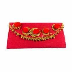 Pom-pom Folding Velvet Handmade Cash Envelopes, For Gifting, Capacity: 1kg