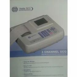 3 RMS Three Channel ECG Machine, for Clinical, RMS