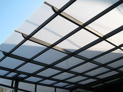 Polymers Heat Resistant Plastic Coated Polycarbonate Roofing Sheet, Thickness Of Sheet: 1.2 Mm - 10mm