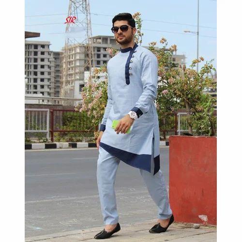 Cotton 42 And 40 Designer Kurta Pyjama Rs 2400 Piece Sir Tailor