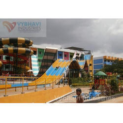FRP Reverse Hump Multilane Water Slide