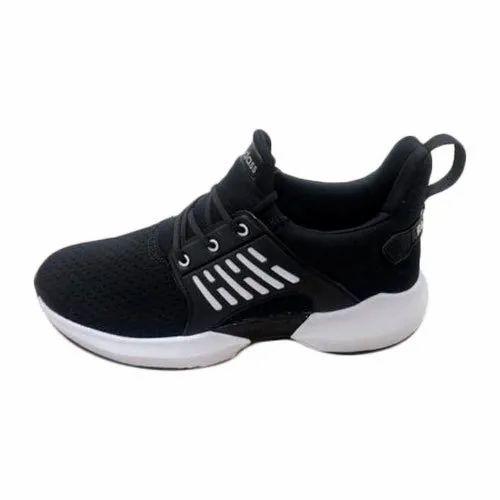 Men Reedass Black Sports Shoes, Size: 6