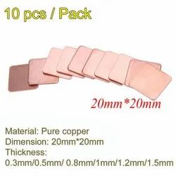CentIoT - 20x20x1.2mm Pure Copper Heatsink Copper Shim Thermal Pad - for Laptop IC Raspberry PI