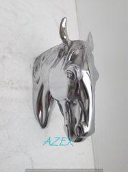Aluminum Wall Mount Horse Head Shiny Polished