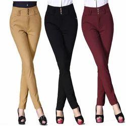 Plain Ladies Pencil Pants