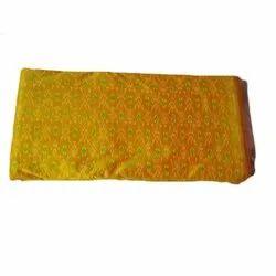 Yellow Printed Ikkat Sico Cotton Fabric, GSM: 50-100