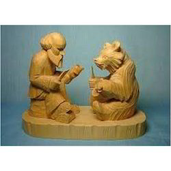 Wooden Color Wood Sculptures, for Interior Decor, Size/dimension: Customied
