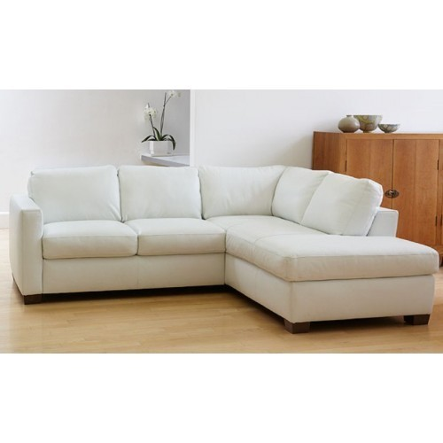 White L Shape Sofa Set