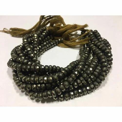 Pyrite Rondelle Precious Beads
