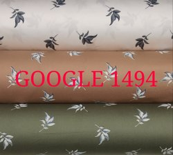 60's Satin Printed Mens Shirt Fabric