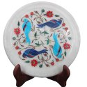 White Marble Plate Home Decoration