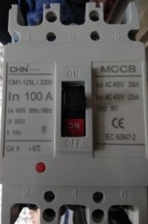 100Amp. 3 MCCB