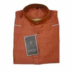 Casual Wear Men Printed Cotton Kurta, Size: S-XXL