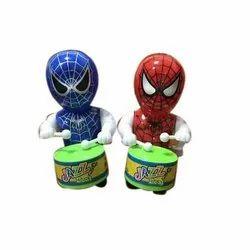 Plastic Spider Man Drum Toys