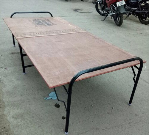 Brown Plywood Folding Bed, Size: 6*3 Ft, Mm Metal ...