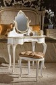 White & Gold Amelia French Dressing Table, Size/dimension: 90 X 50 X 136 Cm