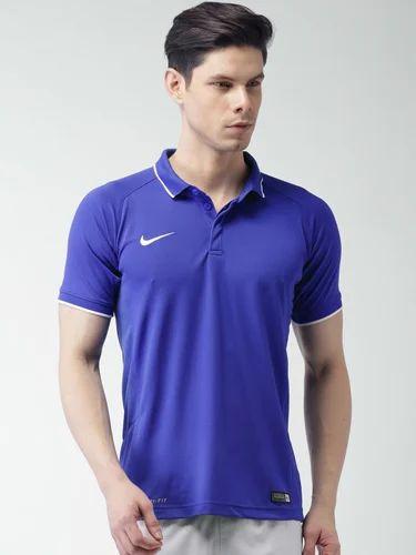 fdb747c15 Nike Blue As Em Ts Crkt Hitmark SS Polo T-shirt - Myntra Pvt Ltd ...