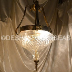 Acc To Standard And Glass Clear Cut Hanging Light