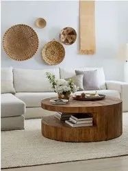 Brown Wooden Living Room Coffee Table