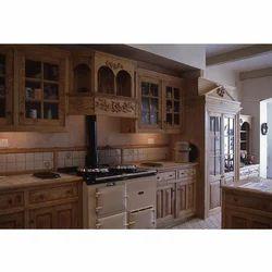 Wooden furniture for kitchen Light Oak Grey Wooden Carved Kitchen Furniture Indiamart Wooden Modular Kitchen Furniture At Rs 50000 set Rasoighar Ke