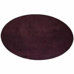 Round Viscose Cotton Carpet