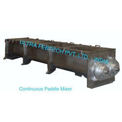 Ultra Febtech Continuous Paddle Mixer, Capacity: 100 to 20000 Kgs