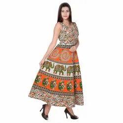 Ladies Jaipuri Print Frock