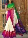 Pure Silk Designer Saree / Handwoven / Double Ikkat Patola - Ethnics Land