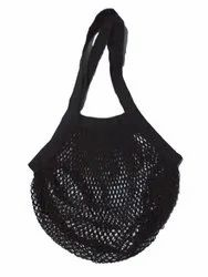100% Cotton Black Net String Grocery Tote Bags