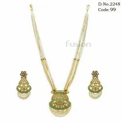 Beaded Antique Pendant Set