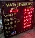 Jewellery Rates Display Board