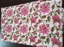 Pink Cotton Hand Block Printed Fabric, Use: Dress