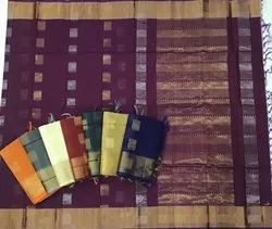 Casual Wear Silk Cotton Sarees, 6.3 m (with blouse piece)