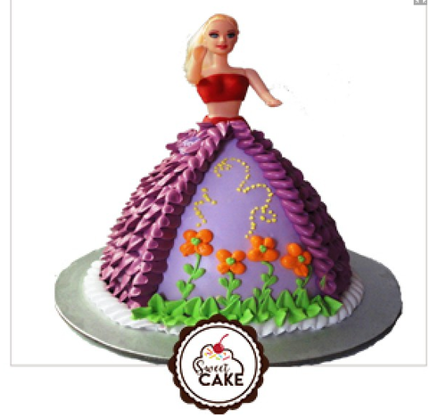 Barbie Doll Designer Cake थ म क क Sweet Cake Noida Id