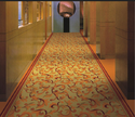 Golden & Red Wall To Wall Carpet
