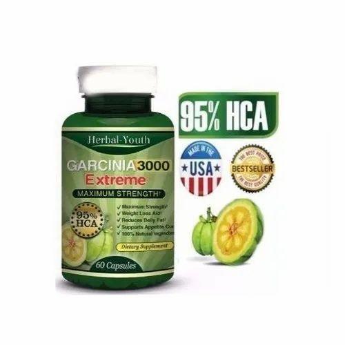 Garcinia Cambogia Extreme Herbal Youth 3000 Maximum Strength 60 Capsules